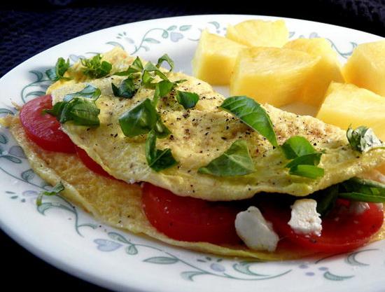 Light Italian Feta Omelet