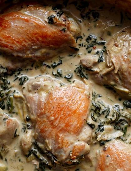 Creamy Spinach Artichoke Chick