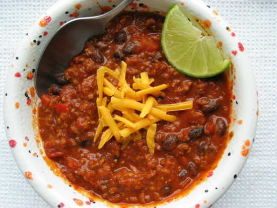 Beef Chili With Bacon & Black