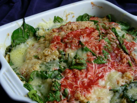 Couscous With Spinach and Pine