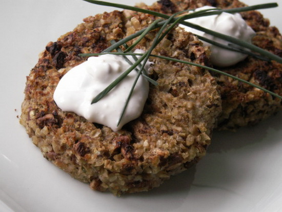 Pecan and Mushroom Burger With