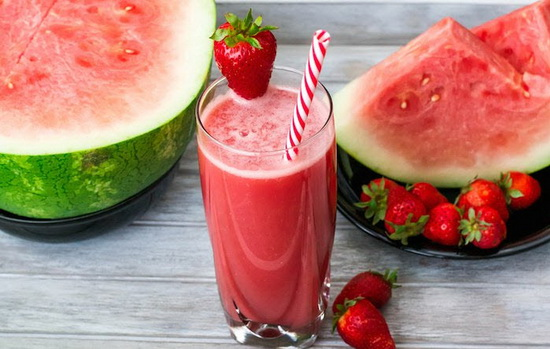 Low Fat Watermelon Strawberry