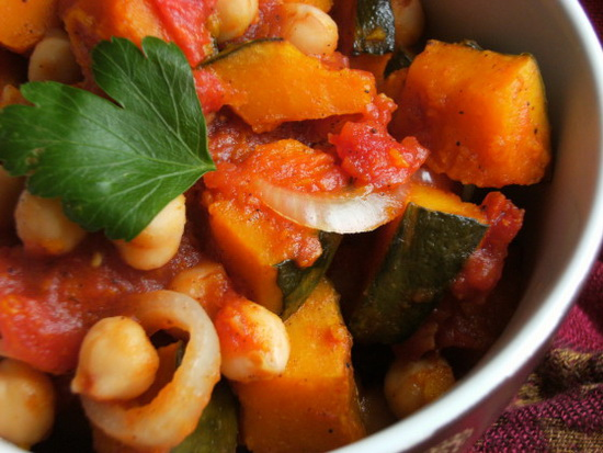 Pumpkin and Chickpea Ratatouil