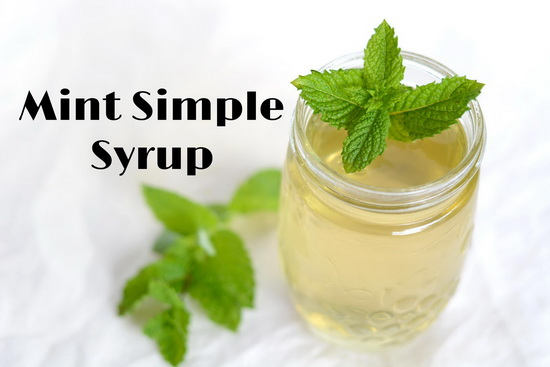 Minted Simple Syrup