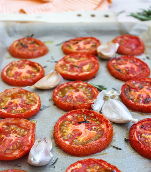 Rosemary Garlic Roast Tomatoes