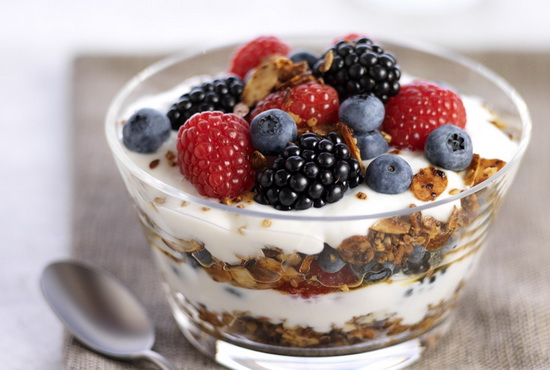 Yogurt Parfaits with Granola a