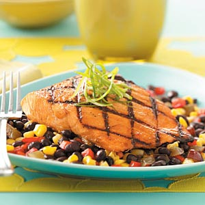 Diabetic Low Fat Salmon Over W