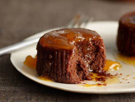 Warm Chocolate Cakes with Apri