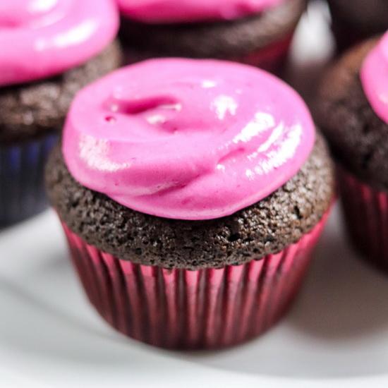 Chocolate Rum Beet Cupcakes wi