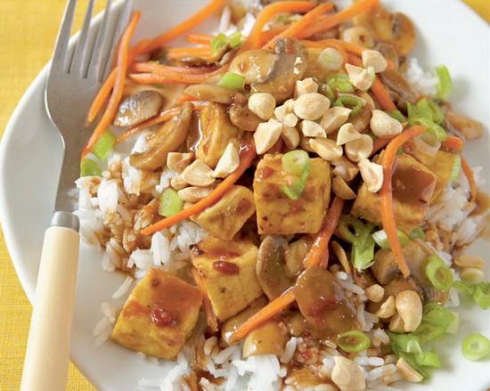 Szechuan-Style Tofu with Peanu