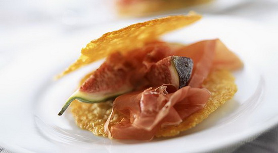 Parmesan Wafers with Parma Ham