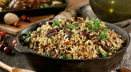 Dirty Rice with Pecans and Cra