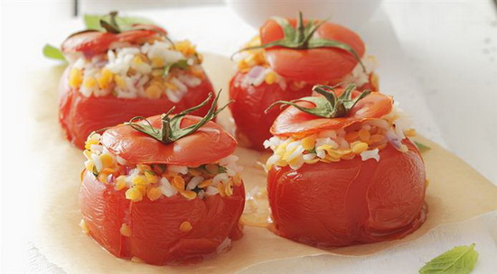 Stuffed Tomatoes with Rice and