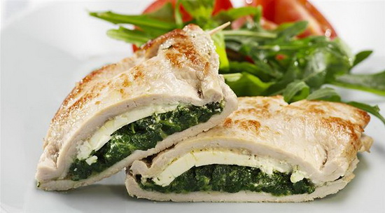 Pork Cordon Bleu with Spinach