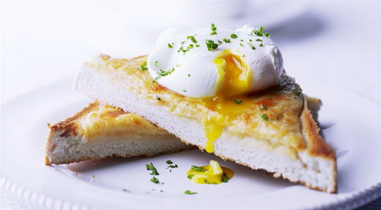 Herby Eggs on Toast