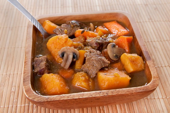 Beef with Apples and Sweet Pot