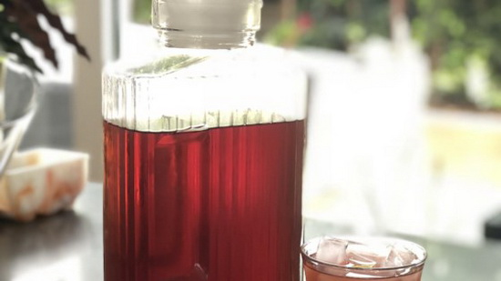 Rose Hip Iced Tea