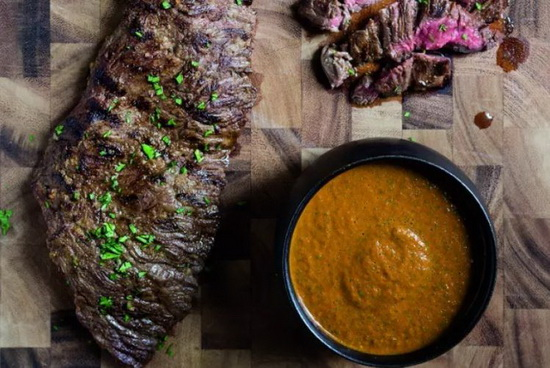 Grilled Skirt Steak With Chimi