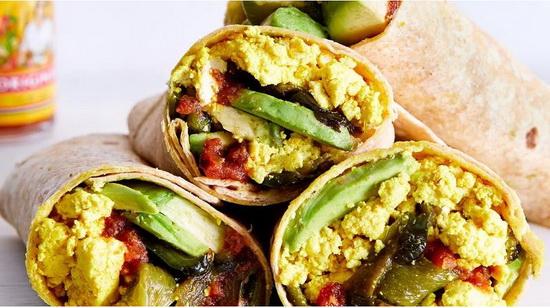 Vegan Breakfast Burrito With T