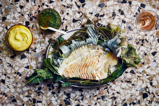 Grilled Turbot with Celery Lea