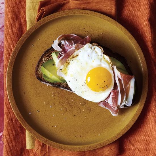 Avocado, Prosciutto, and Egg O