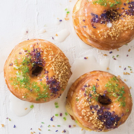 King Cake Croissant Doughnuts