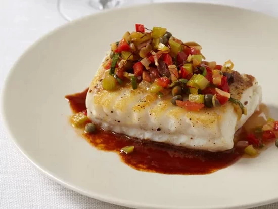 Sautéed Cod with Rich Ketchup