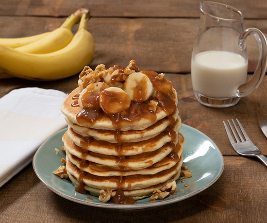Banana Pancakes With Salted Ca