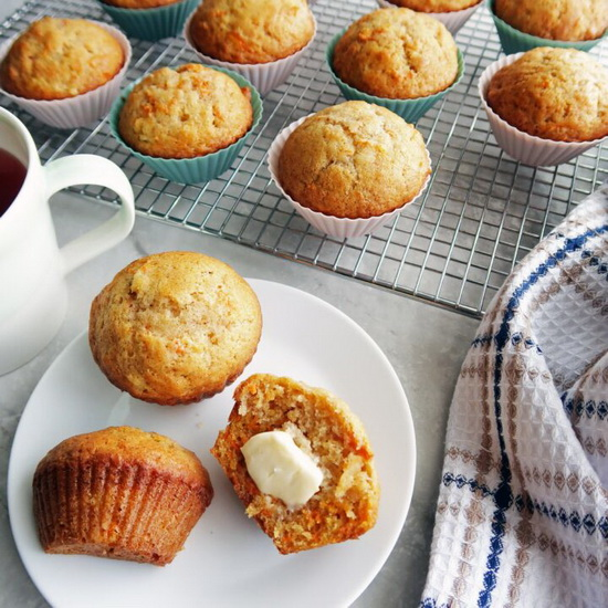 Carrot & Pineapple Muffins