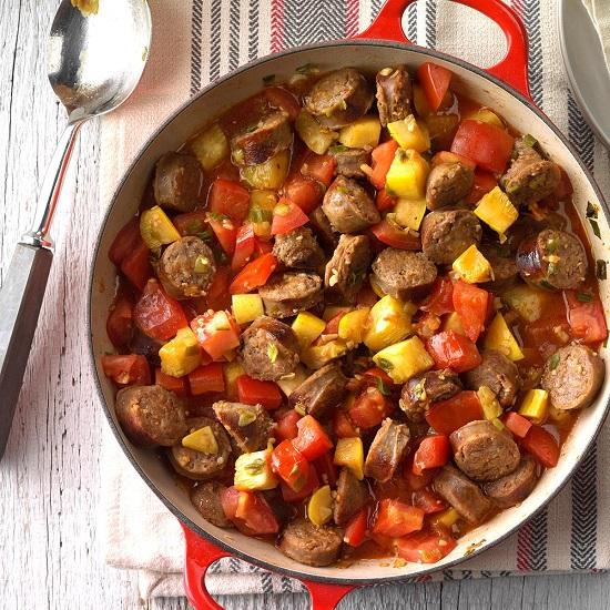 Sausage Vegetable Skillet