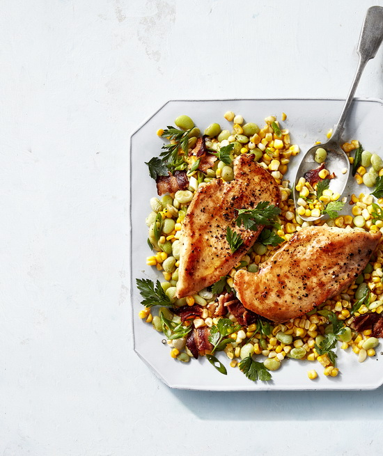 Pan-Seared Chicken Cutlets wit