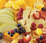 Fruit and Cheese Cracker Stack