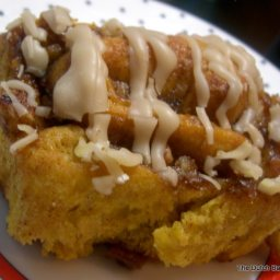 Pumpkin Cinnamon Rolls with Pe
